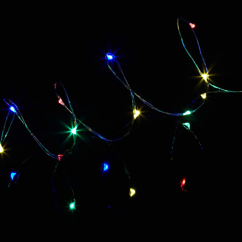 Dew Drop Plug-In 100-LED Multicolor String Light Strand more views