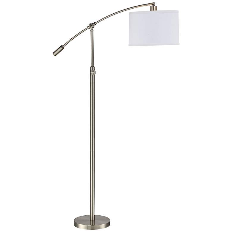 Quoizel Clift Brushed Nickel Adjustable Arc Floor Lamp more views