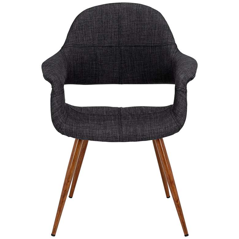 Phoebe Modern Charcoal Fabric Accent Armchair more views