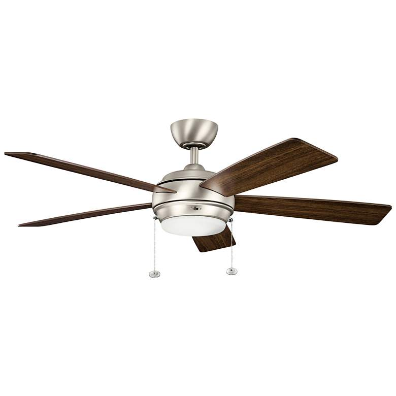 "52"" Kichler Starkk Brushed Nickel LED Ceiling Fan more views"