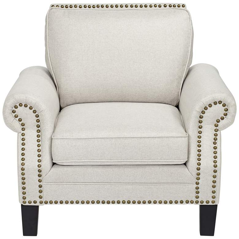 Clyde Park Oslo Linen Nailhead Trim Armchair more views