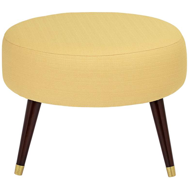 "Syble 22"" Wide Klein Mustard Yellow Modern Ottoman more views"