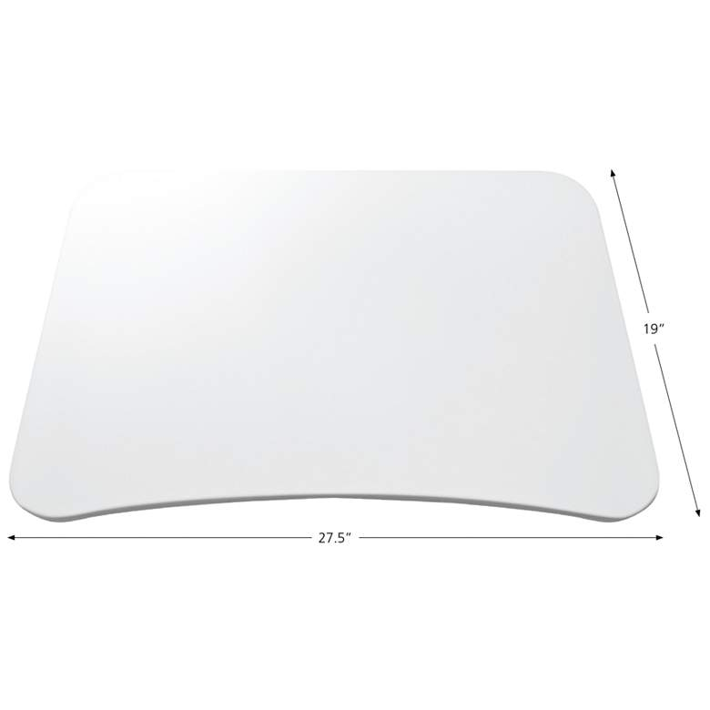 "201 Collection 27 1/2"" Wide White Adjustable Laptop Desk more views"