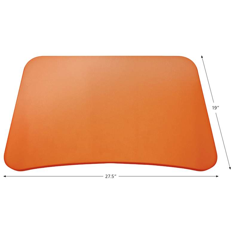 "201 Collection 27 1/2"" Wide Orange Adjustable Laptop Desk more views"