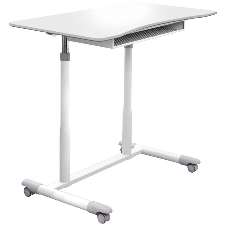 "205 Collection 37 1/2"" Wide White Adjustable Stand-Up Desk more views"