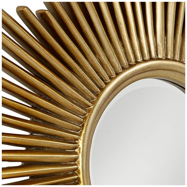 "Sarino Gold 36 1/4"" Round Sunburst Accent Mirror more views"
