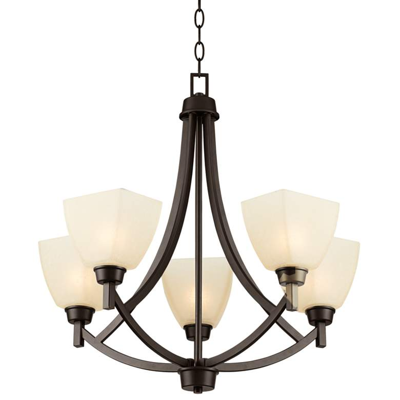 "Coloma 24 1/2""W 5-Light Oil-Rubbed Bronze Chandelier more views"