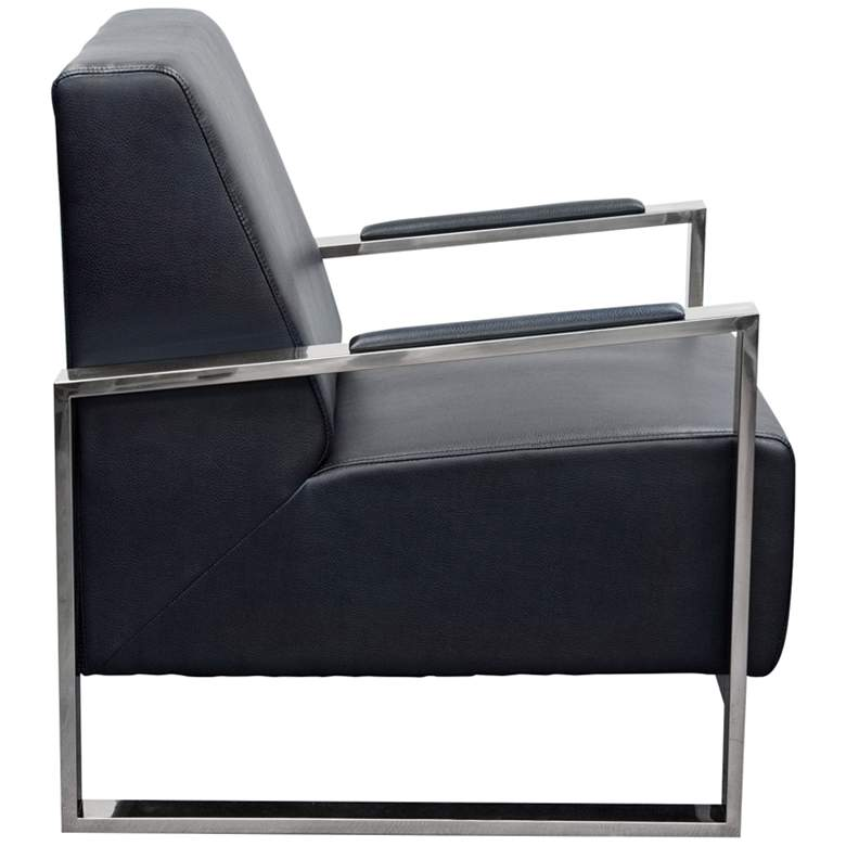 Century Black Bonded Leather Accent Chair more views