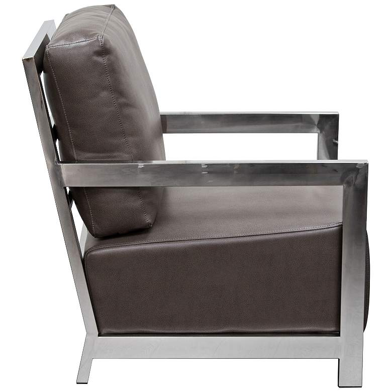 Zen Elephant Gray Bonded Leather Accent Chair more views