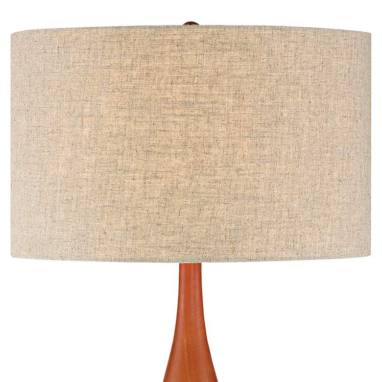 "Rocco 30"" High Mid-Century Modern White Ceramic Table Lamp more views"