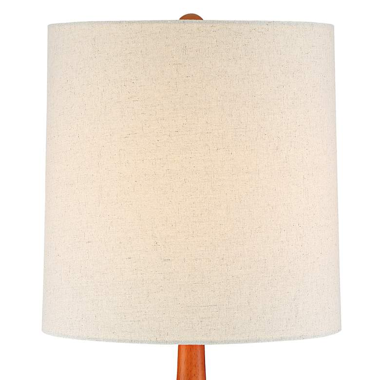 Andi Mid-Century Ceramic and Wood Table Lamp more views