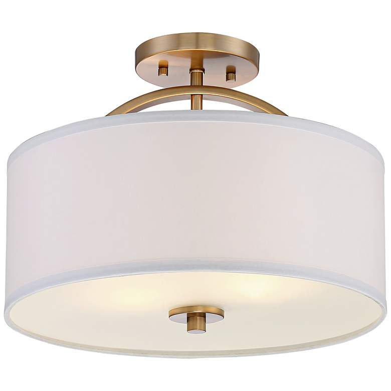 "Possini Euro Halsted 15"" Wide Warm Brass Ceiling Light more views"