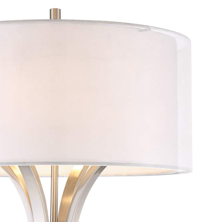 Tristan Brushed Nickel Modern Floor Lamp more views