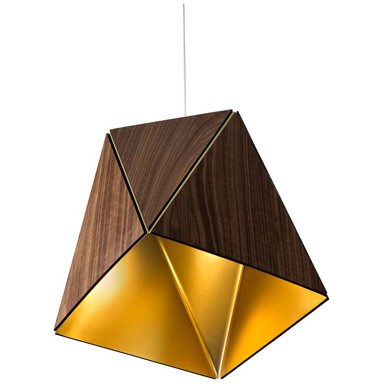"Cerno Calx 19"" Wide Brushed Aluminum LED Pendant Light more views"
