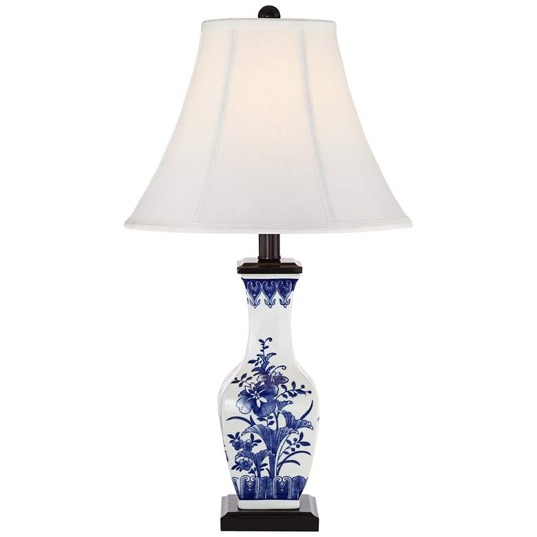 Benoit Blue and White Ceramic Table Lamp more views