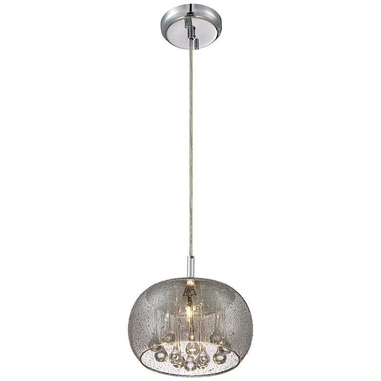 "Possini Euro Rainier 8 3/4"" Wide Smoke Glass Mini Pendant more views"