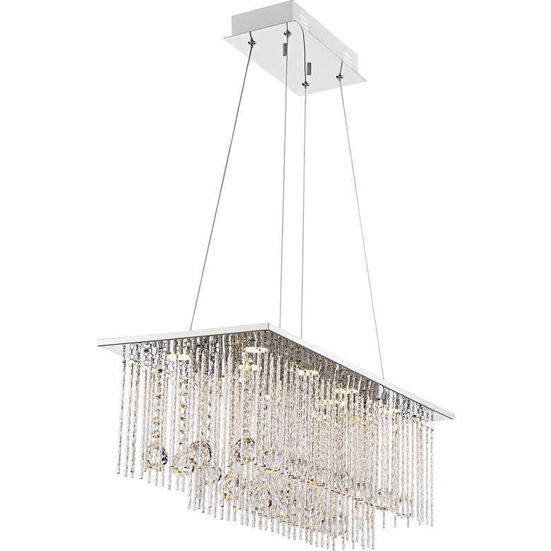 "Boyne 29 3/4"" Wide Chrome LED Kitchen Island Light Pendant more views"
