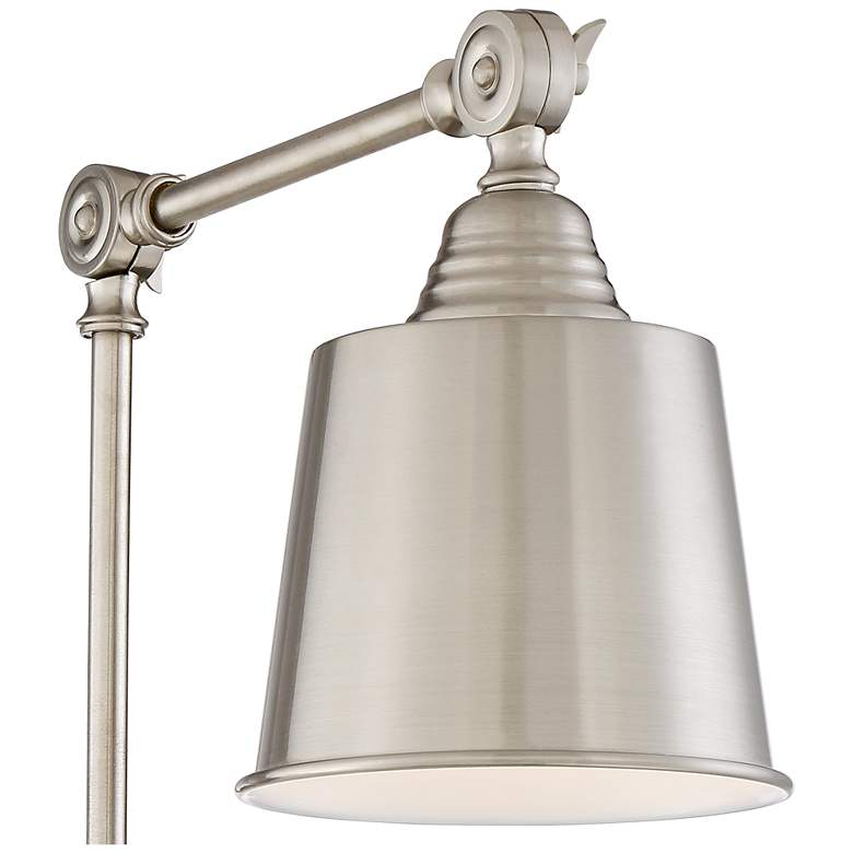 Set of 2 Mendes Brushed Nickel Plug-In Wall Lamps more views