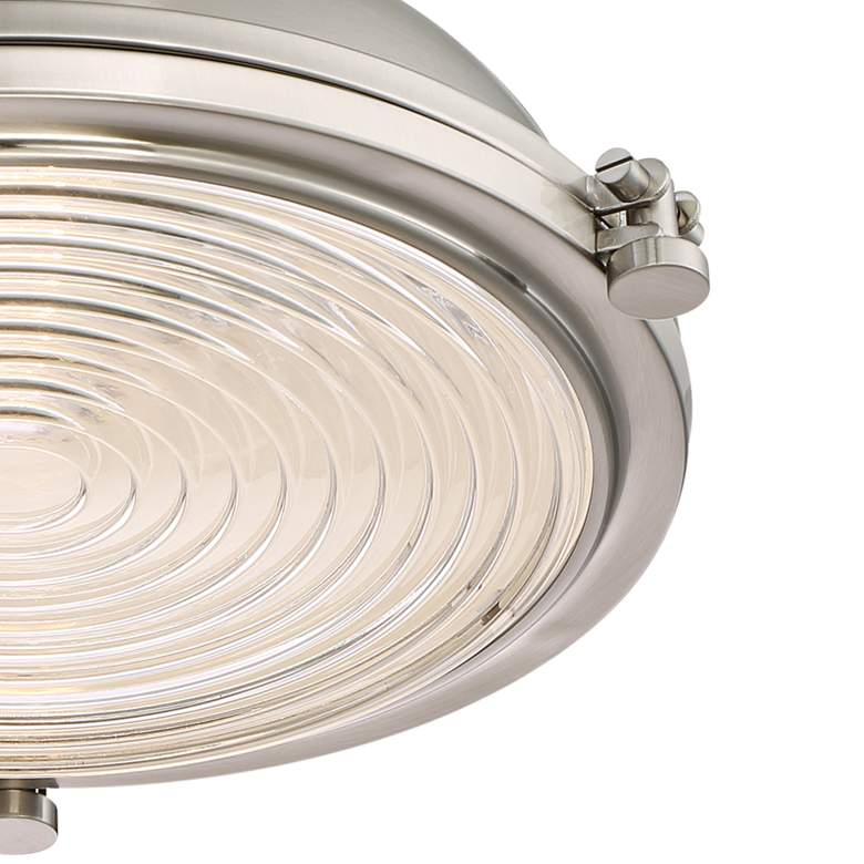 "Verndale 11 3/4""W Brushed Nickel Industrial Ceiling Light more views"