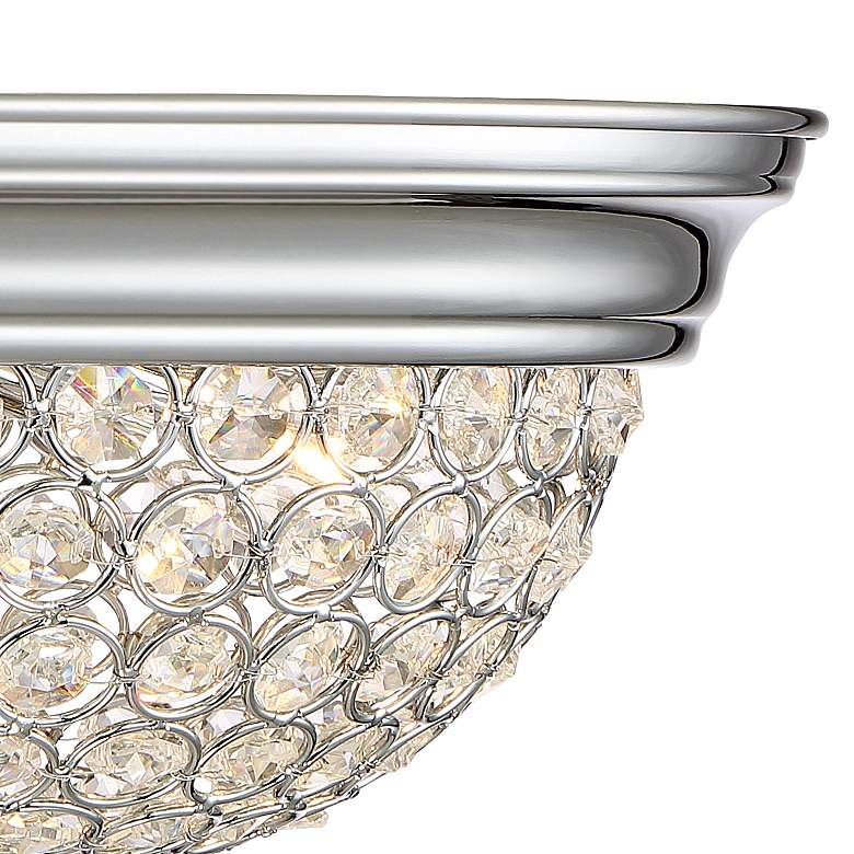 Possini Euro Faith Chrome-Crystal Ceiling Lights Set of 2 more views