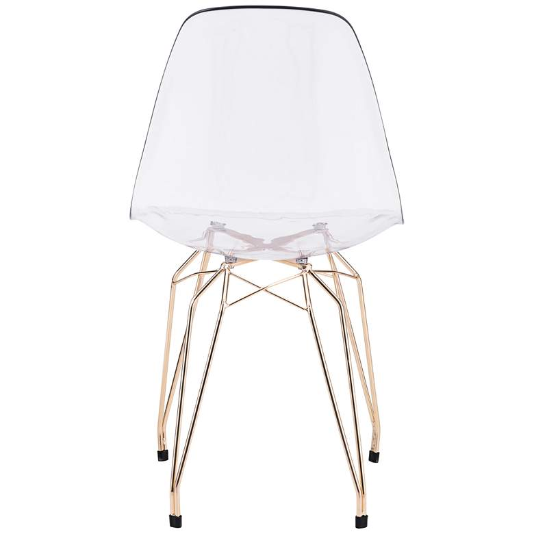 Zuo Shadow Transparent Seat Modern Dining Chairs - Set of 2 more views