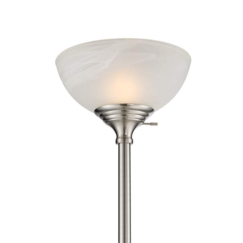 London Torchiere Floor Lamp with Table and Reading Light more views
