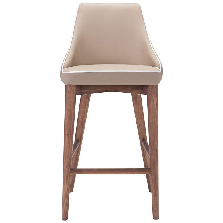 "Zuo Moor 26"" Beige Leatherette Metal Counter Chair more views"