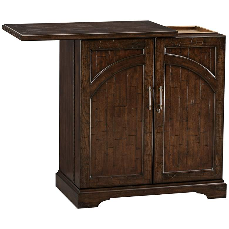 Benmore Valley Rustic Hardwood 2-Door Wine and Bar Cabinet more views