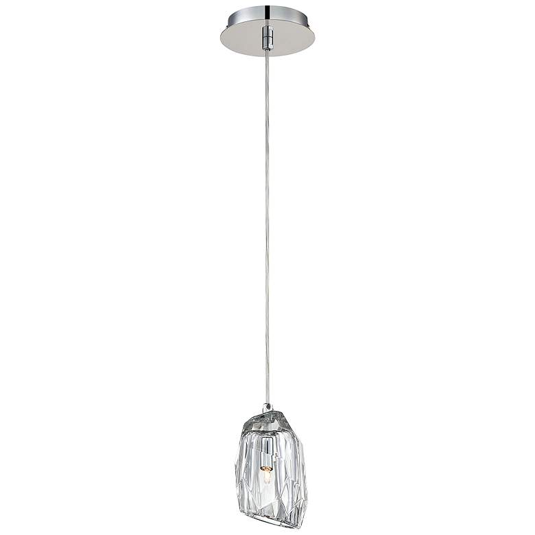 "Eurofase Diffi 4"" Wide Chrome and Glass Mini Pendant more views"