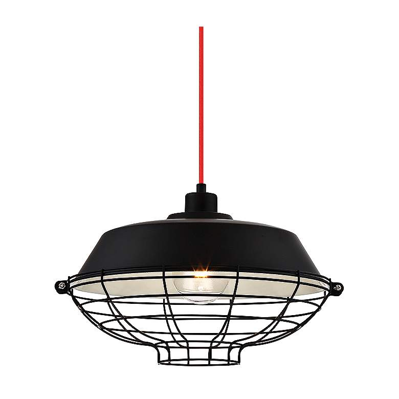 "Eurofase London 14"" Wide Black Pendant Light more views"