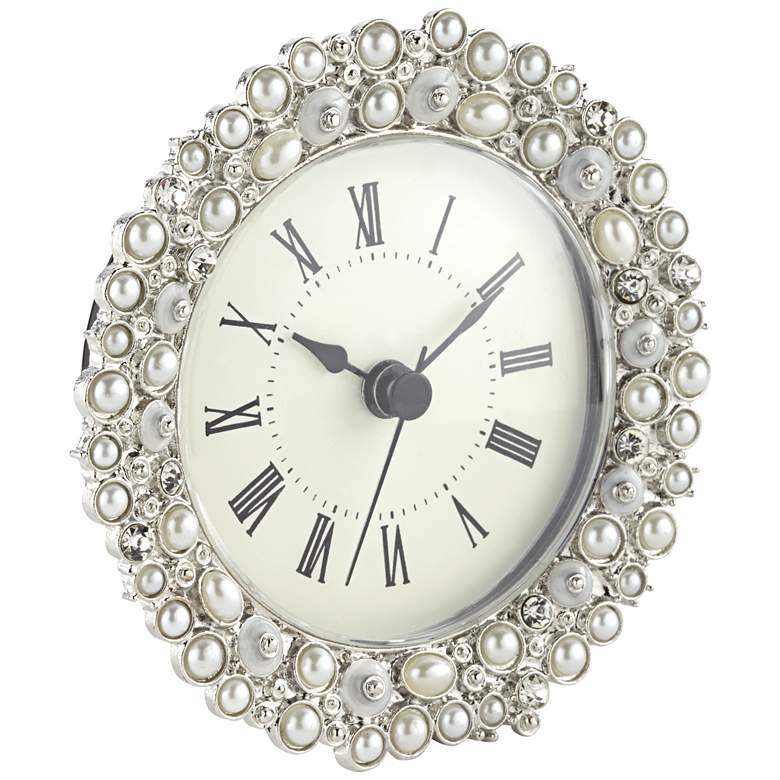 "Avanton Pearl 4 1/4"" Wide Table Clock more views"