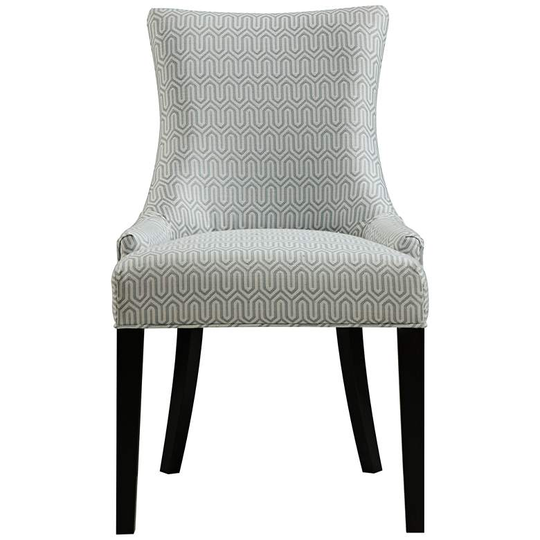 DuPres Geo Mist Light Blue Armless Dining Chair more views