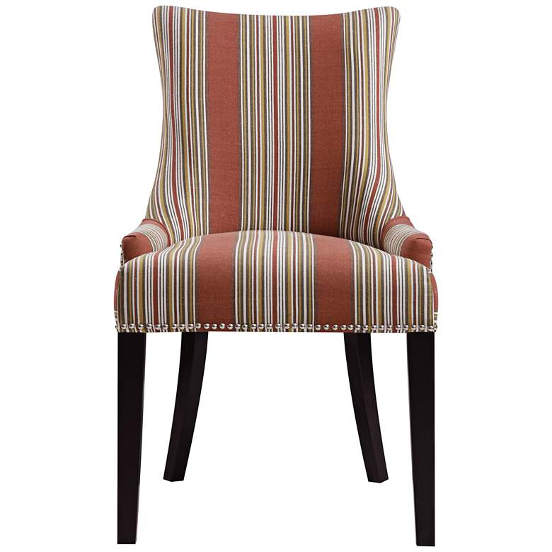 Oberon Bourbon Imperial Sienna Striped Dining Chair more views