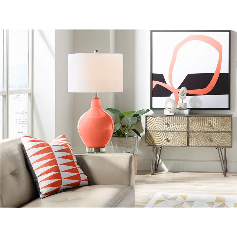 Daring Orange Ovo Table Lamp more views