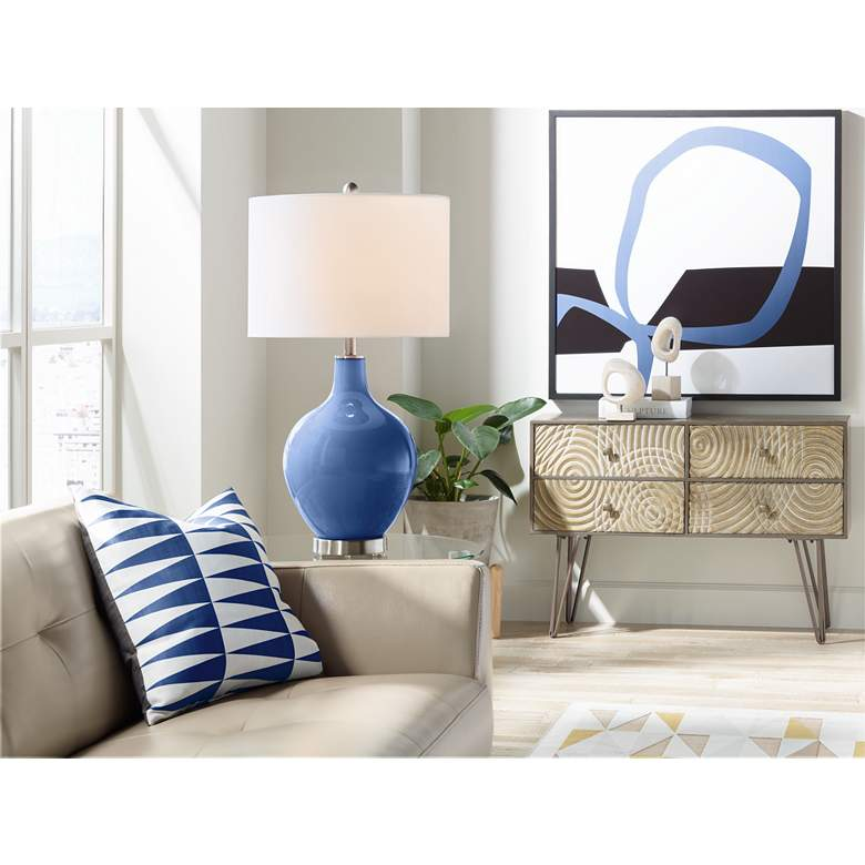 Monaco Blue Ovo Table Lamp more views