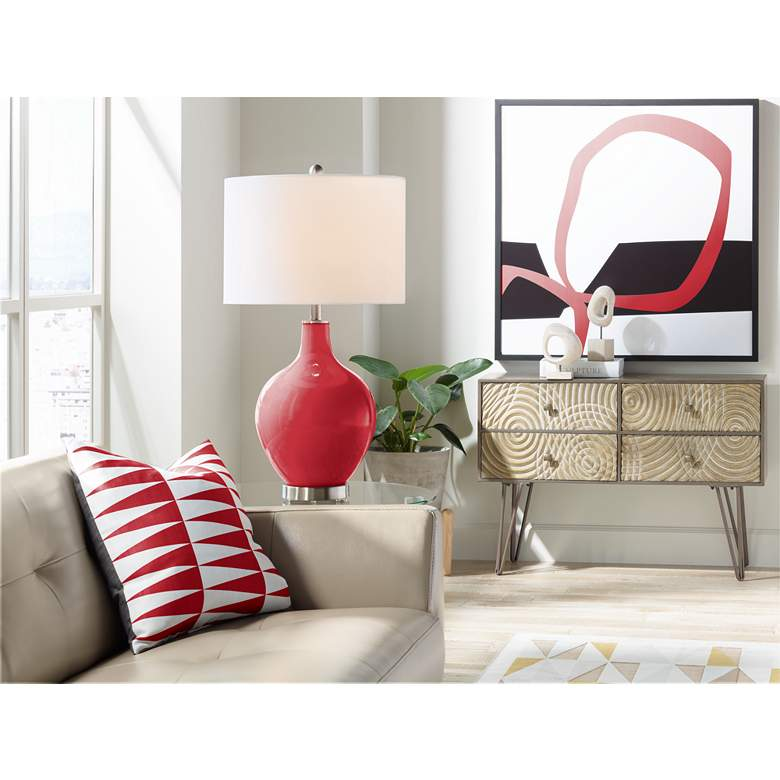 Ribbon Red Ovo Table Lamp more views