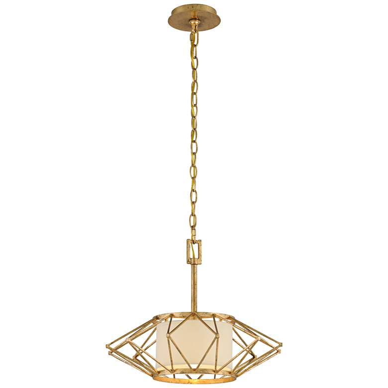 "Calliope 17 3/4"" Wide Rustic Gold Leaf Pendant Light more views"