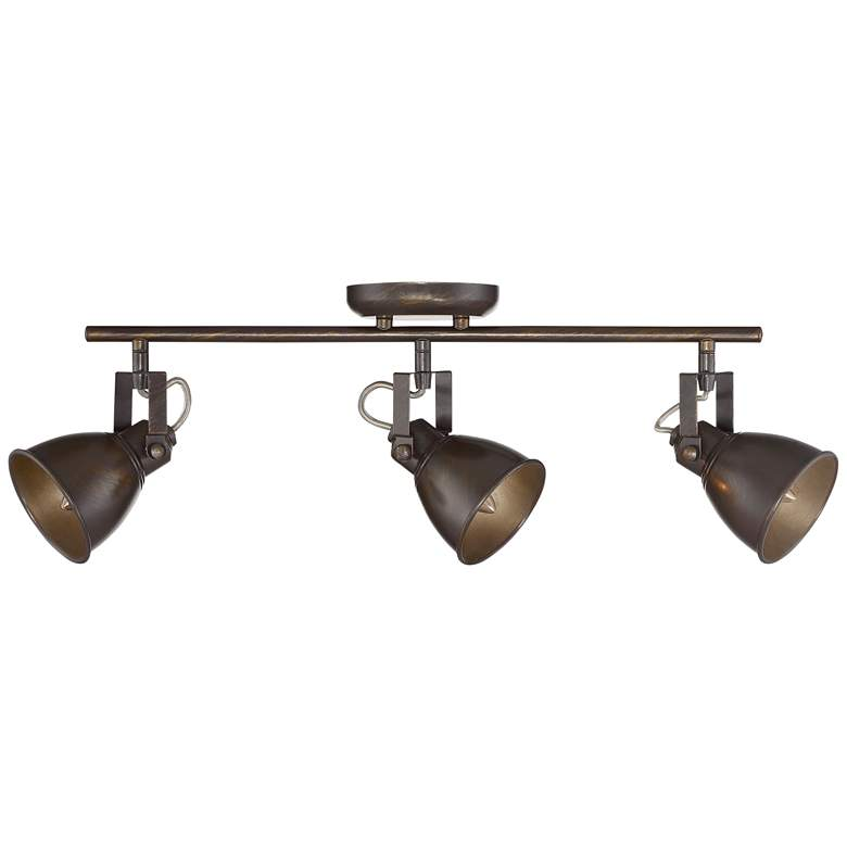 Pro Track® Abby 3-Light Bronze Complete Track Light Kit more views