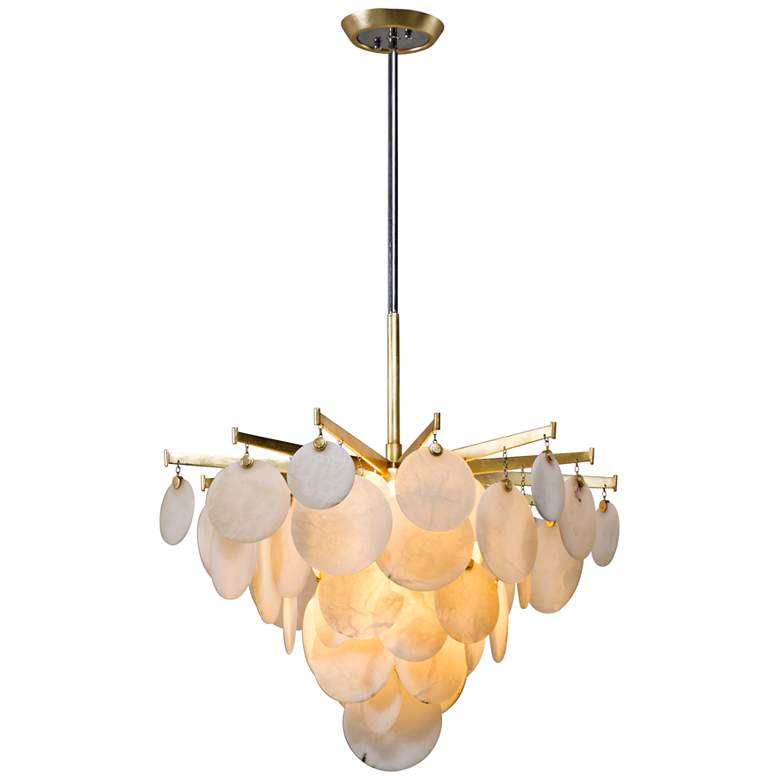 "Corbett Serenity 28"" Wide Gold Leaf LED Chandelier more views"