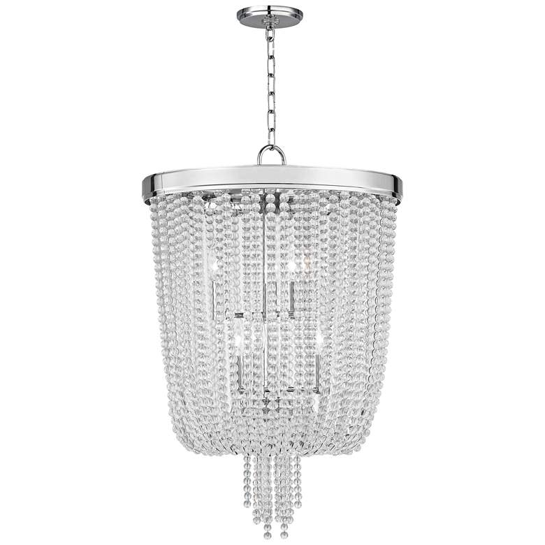 "Royalton 18 1/4"" Wide Polished Nickel Pendant Light more views"