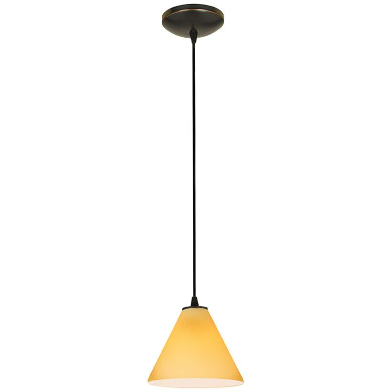 "Martini 7 1/4"" Wide Oil Rubbed Bronze LED Mini Pendant more views"