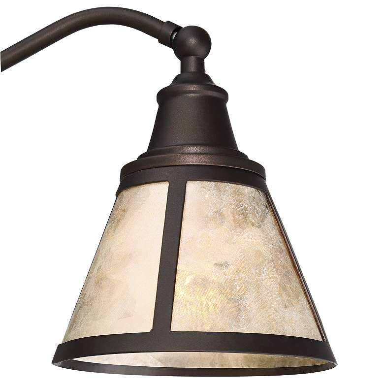 Malta Satin Bronze Mica Shade Desk Lamp more views