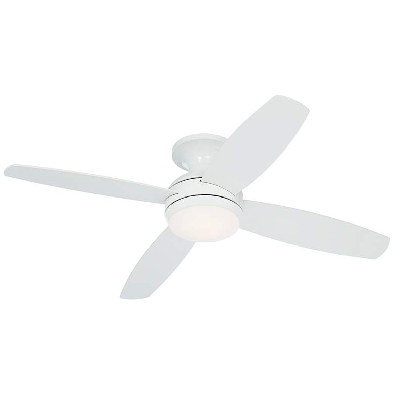 "52"" Casa Elite™ White LED Hugger Ceiling Fan more views"