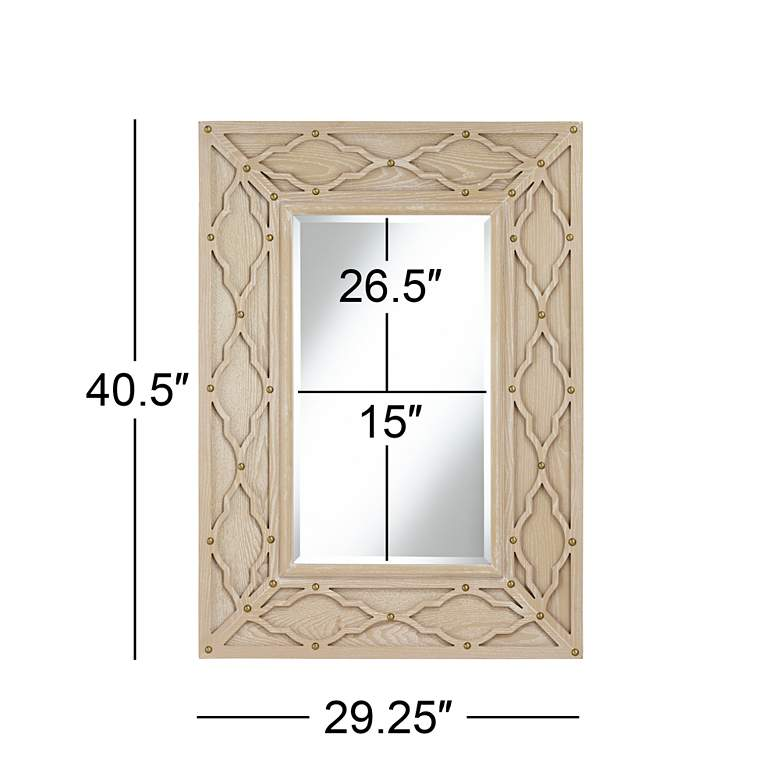 "Lanham Bleached Wood 29 1/4"" x 40 1/2"" Cutout Wall Mirror more views"