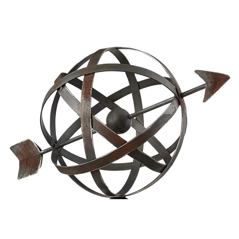 "Atom with Arrow 12 1/4"" High Decorative Accent more views"