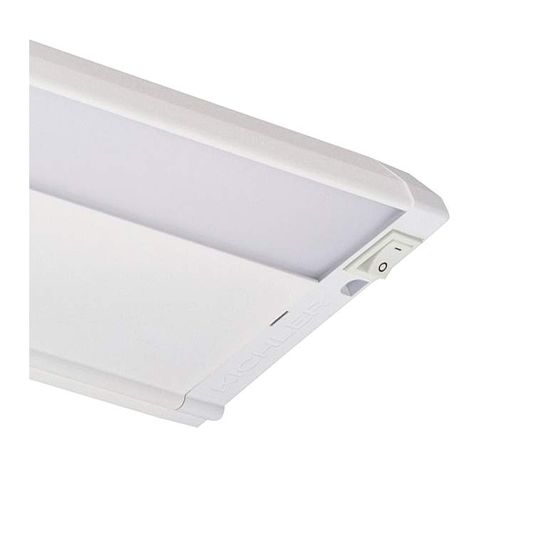 "Kichler 4U 30"" Wide Textured White LED Under Cabinet Light more views"