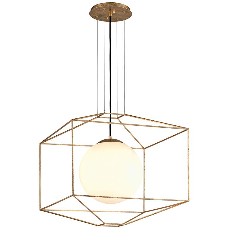 "Troy Silhouette 25"" Wide Gold Leaf Modern Pendant Light more views"