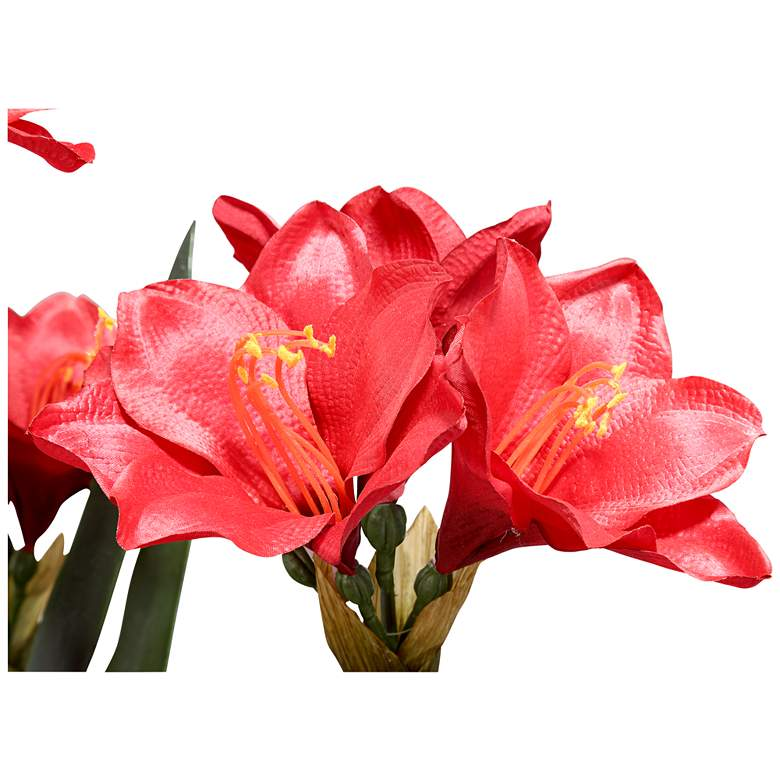 "Kafir Lily 25"" High Silk Potted Plant more views"