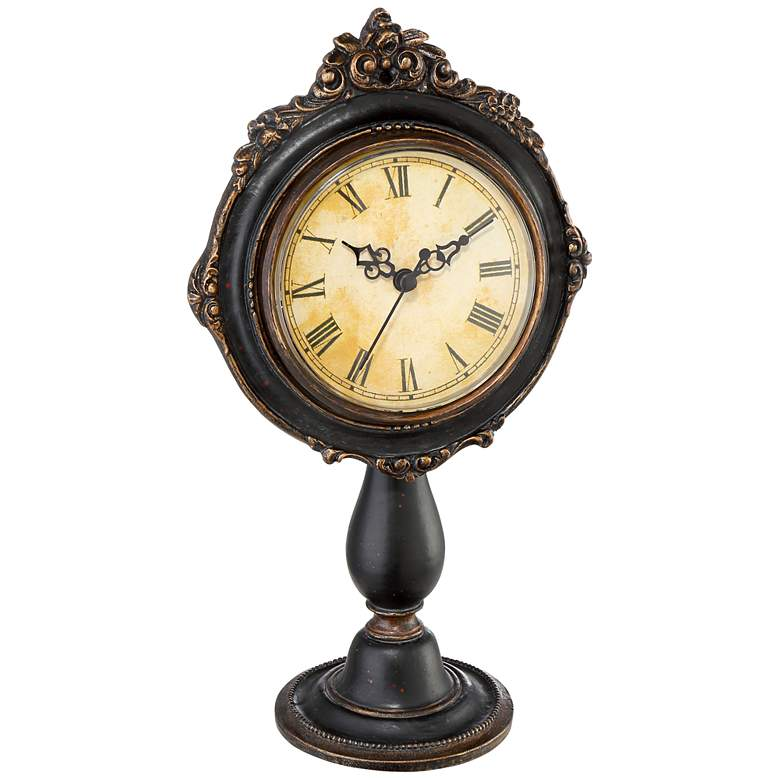 Dailey Brown Traditional Table Clock more views