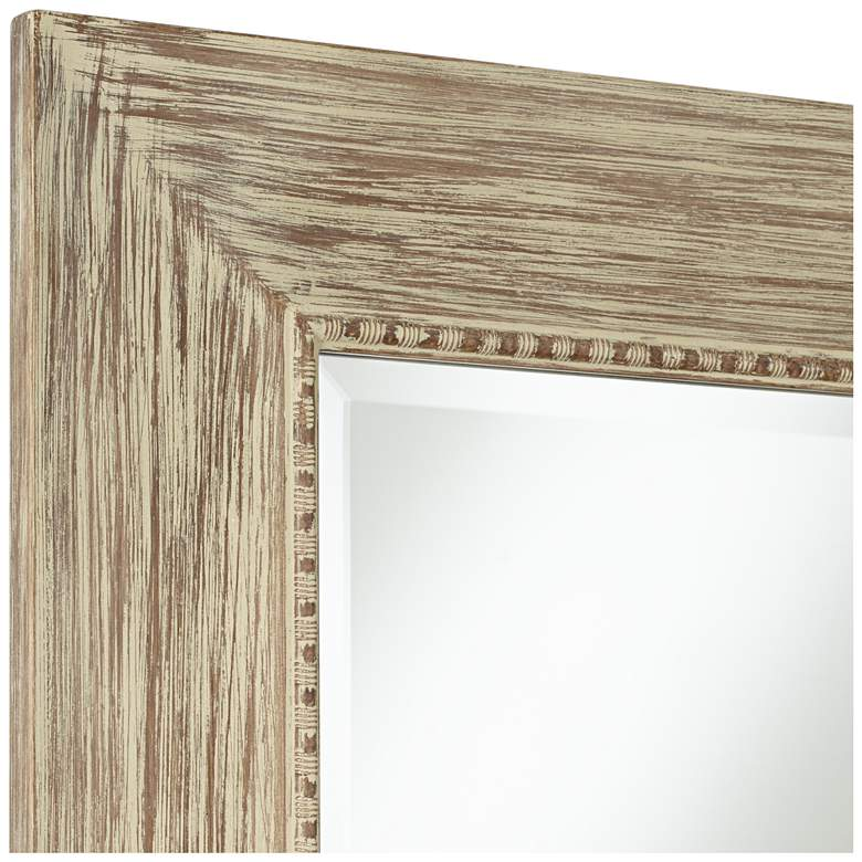 "Daryn Wood 30 3/4"" x 38 3/4"" Beveled Wall Mirror more views"